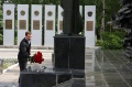 Dmitry Anatoljevich laid on flowers to a memorial of the shipbuilders, perished  on fields of the Wo