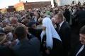 Patriarch Kirill with the parishioners