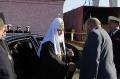 Генеральный директор Севмаша Николай Калистратов всречает Патриарха Кирилла